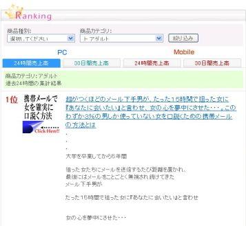 インフォトップアダルト部門1位獲得!!画像
